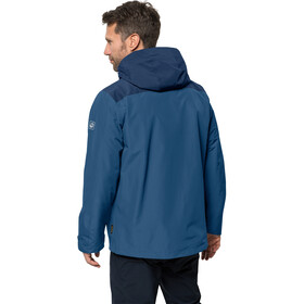Jack Wolfskin Arland 3-i-1 jakke Herrer, indigo blue